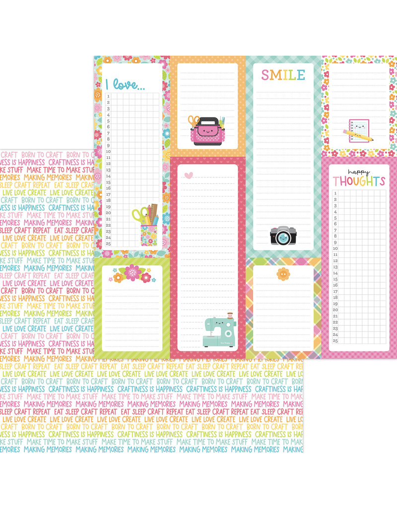 DOODLEBUG cute & crafty: happy thoughts double-sided cardstock