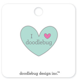 DOODLEBUG cute & crafty: I ♥ doodlebug - mint collectible pins