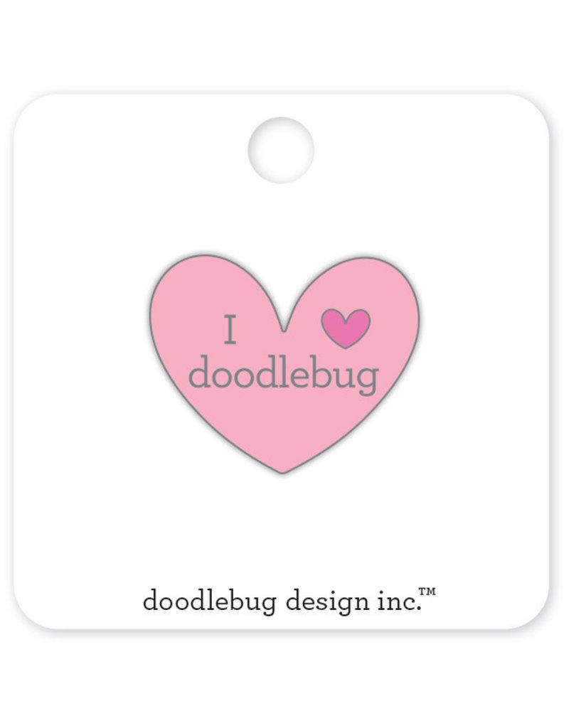 DOODLEBUG cute & crafty: I ♥ doodlebug - pink collectible pins