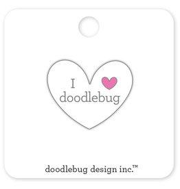 DOODLEBUG cute & crafty: I ♥ doodlebug - white collectible pins