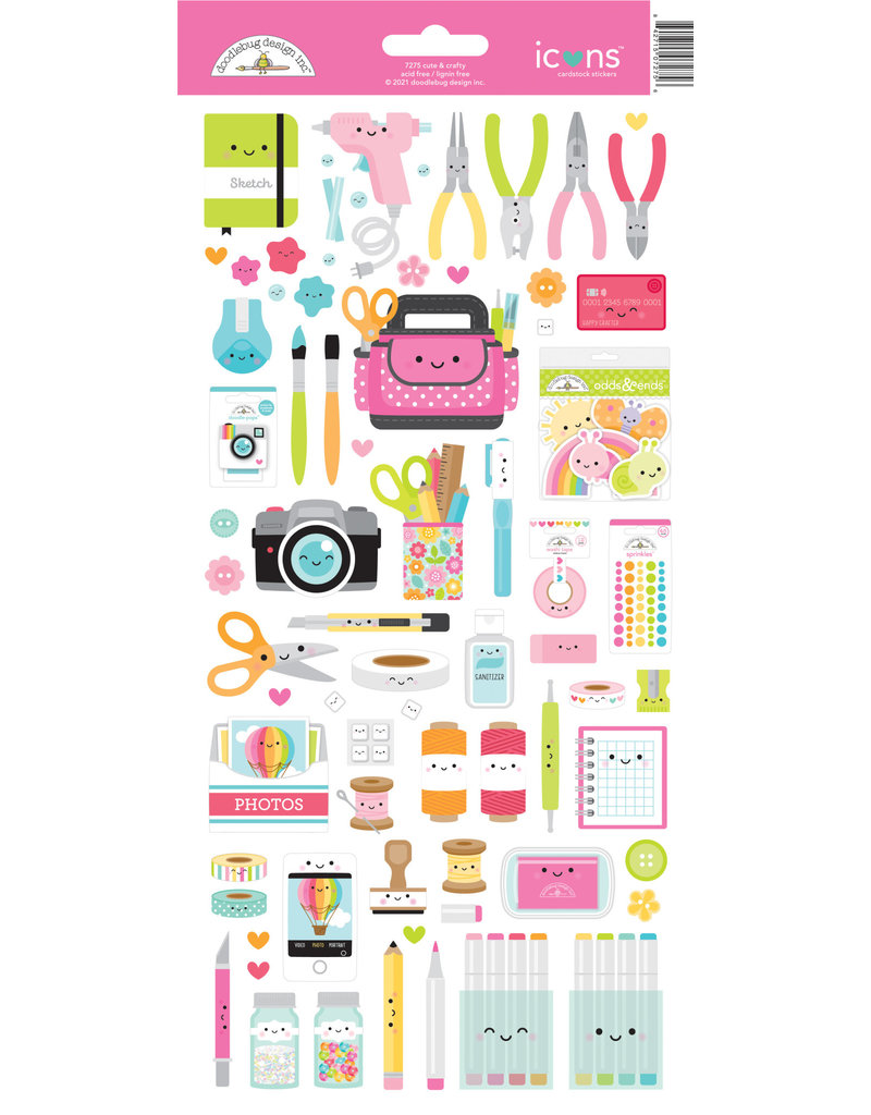 DOODLEBUG cute & crafty: icons stickers