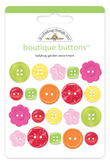 DOODLEBUG cute & crafty: ladybug garden boutique buttons