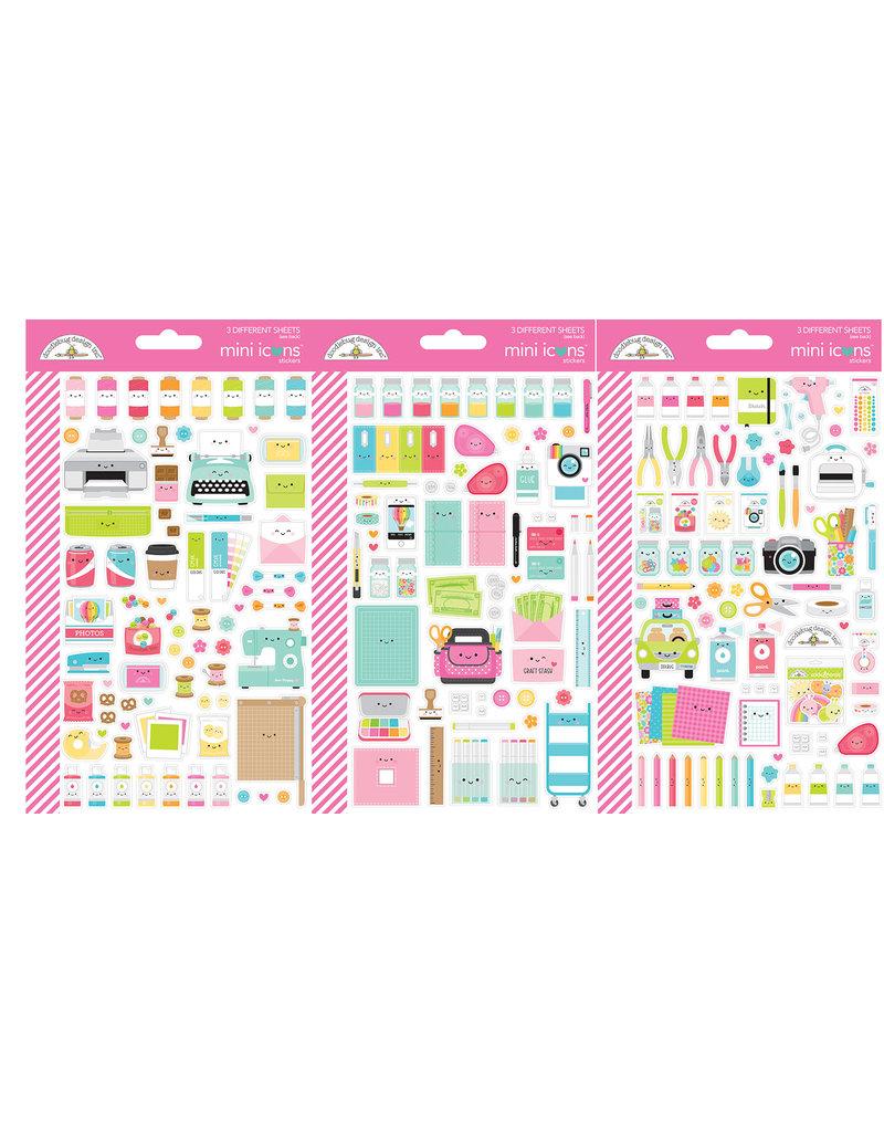 DOODLEBUG cute & crafty: mini icons stickers