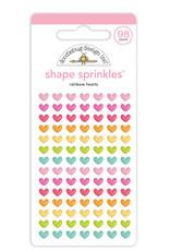 DOODLEBUG cute & crafty: rainbow hearts shape sprinkles