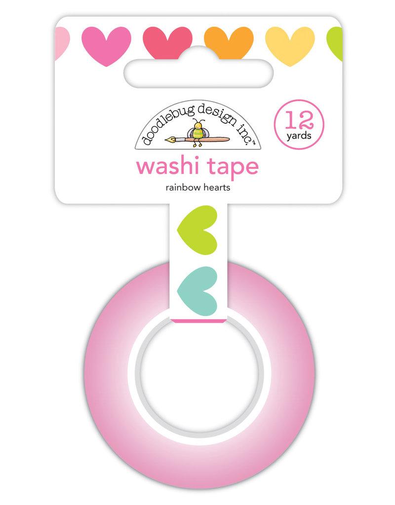 DOODLEBUG cute & crafty: rainbow hearts washi tape
