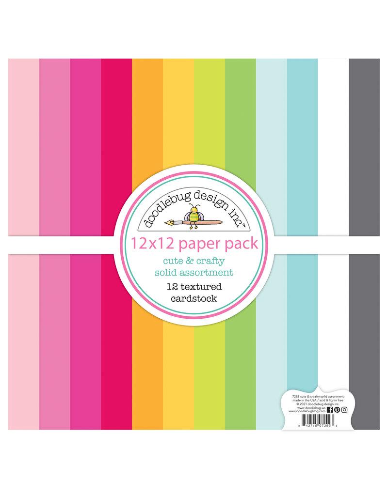 DOODLEBUG cute & crafty: textured cardstock assortment pack