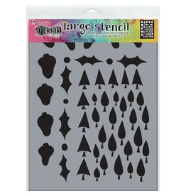 DYLUSIONS Tree Border - Large Stencil