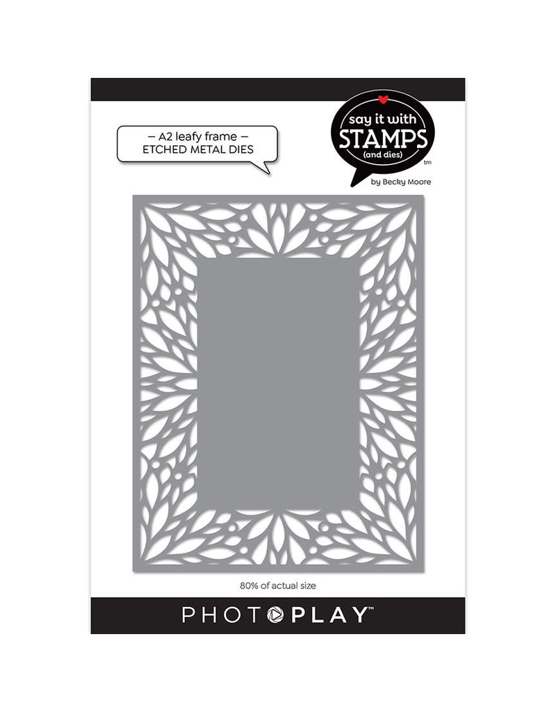 Photoplay A2 Leafy Frame Coverplate Die