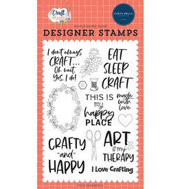 Carta Bella Craft & Create: Crafty & Happy Stamp Set