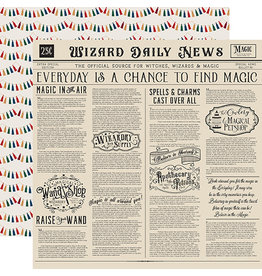 Echo Park Witches & Wizards No2 Paper: Wizards Daily News