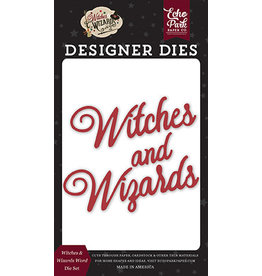 Echo Park Witches & Wizards No2: Witches & Wizards Word Die Set