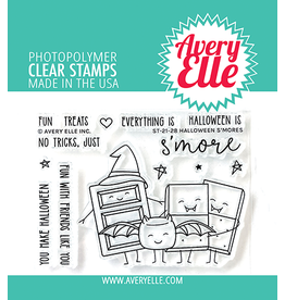 avery elle Halloween S'mores Clear Stamps