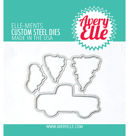 avery elle Layered Holiday Truck Elle-ments Die