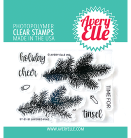 avery elle Layered Pine Clear Stamps