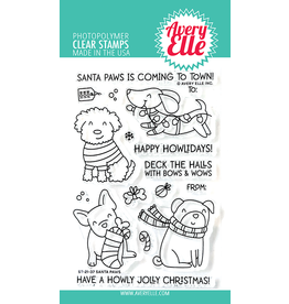 avery elle Merry Circle Tags Clear Stamps