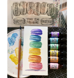 Mansi Bhatia Watercoloring Stamps with Distress Ink Reinkers Series