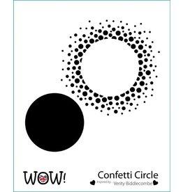 wow! Confetti Circle Stencil