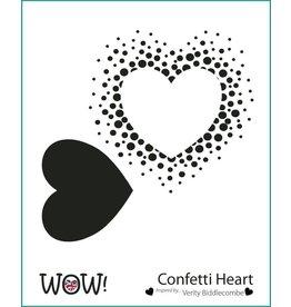 wow! Confetti Heart Stencil