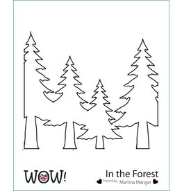 wow! In the Forest Stencil