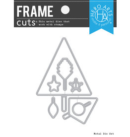 HERO ARTS Graphic Lines Holiday Frame Cuts Die