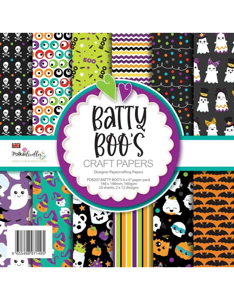 Polkadoodles Batty Boo's Craft Papers