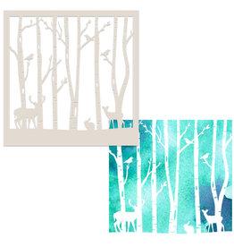 Polkadoodles Scenic Winter Stencil