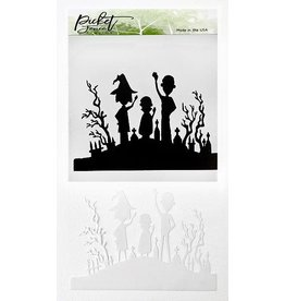 Picket Fence Be Spooky Together A2 Stencil