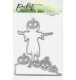 Picket Fence Scarecrow Cover Plate Die