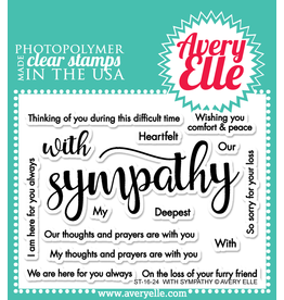 avery elle With Sympathy Stamp