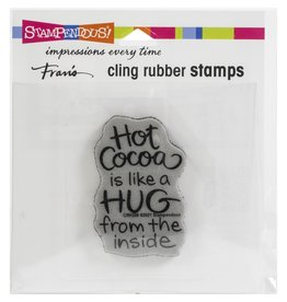 stampendous Cocoa Hug Stamp