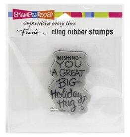 stampendous Hoiliday Hug Stamp