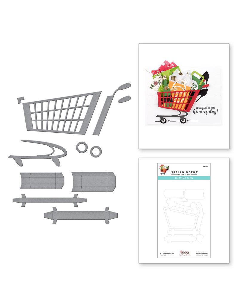spellbinders 3D Shopping Cart Etched Dies
