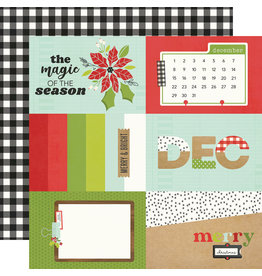 simple stories Make it Merry Paper  - 4x6 Elements