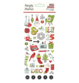 simple stories Make it Merry  - Puffy Stickers
