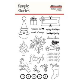simple stories Make it Merry  - Stamps