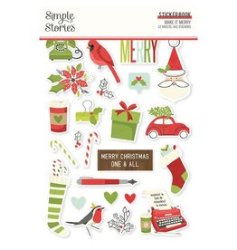 simple stories Make it Merry  - Sticker Book