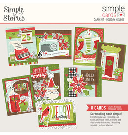 simple stories Make it Merry- Simple Cards Card Kit - Holiday Hellos