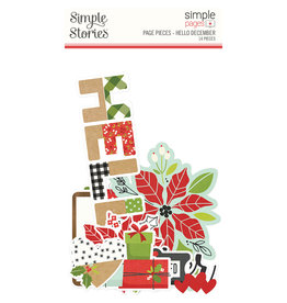simple stories Make it Merry- Simple Pages Page Pieces - Hello December