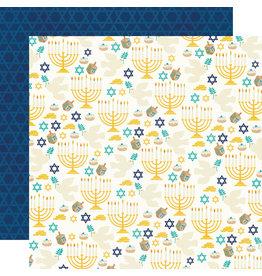 simple stories Happy Hanukkah  Paper- Shine Bright