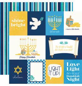 simple stories Happy Hanukkah Paper- Element Cards
