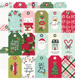 simple stories Holly Days  Paper- Tags
