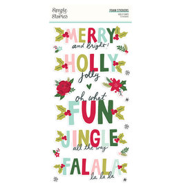 simple stories Holly Days - Foam Stickers