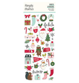 simple stories Holly Days - Puffy Stickers