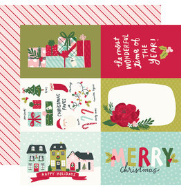 simple stories Holly Days Paper - 4x6 Elements