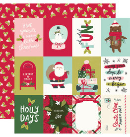 simple stories Holly Days Paper- 3x4 Elements