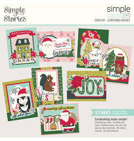 simple stories Holly Days Simple Cards Card Kit - Christmas Wishes