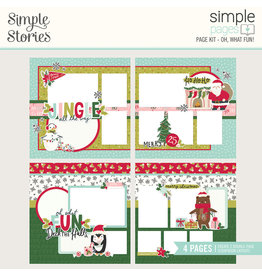 simple stories Holly Days Simple Pages Page Kit - Oh, What Fun!