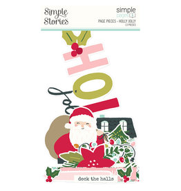 simple stories Holly Days Simple Pages Page Pieces - Holly Jolly