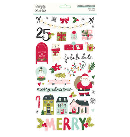 simple stories Holly Days- 6x12 Chipboard