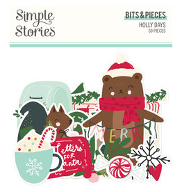 simple stories Holly Days- Bits & Pieces